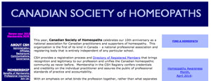 The Canadian Society of Homeopaths
