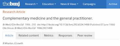The BMJ Research Article icon